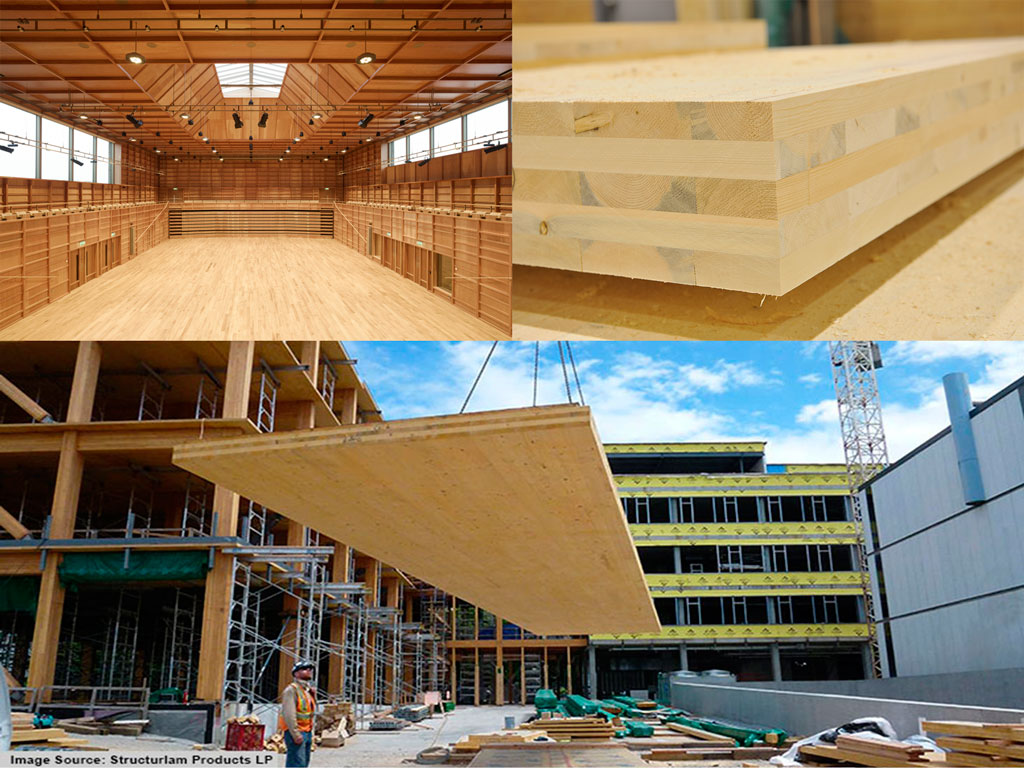Глюлам - CLT - (Cross Laminated Timber)