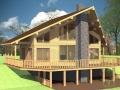 Проект каркасно-щитового дома