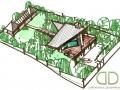 план участка с озеленением под каркасно-щитовой дом
