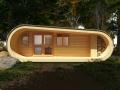Каркасно-щитовой домик с террасой