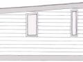 Фасад каркасно-щитового дачного дома