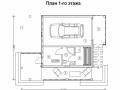 План каркасно-щитового дома в стиле фахверк