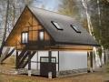 фахверковый каркасный дом с гаражем