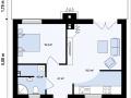 План каркасно-щитового дома