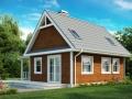 Эскиз классического каркасно-щитового дома