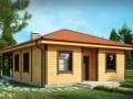 проект каркасно-щитового дома с террасой
