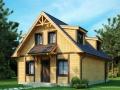 каркасно-щитовой дом с мансардой