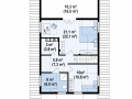 план второго этажа каркасно-щитового дома