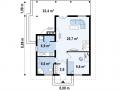 план первого этажа каркасно-щитового дома