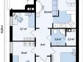 план небольшого деревянного дома