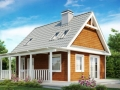 Проект классического каркасно-щитового дома