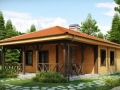 фото небольшого каркасного дома с террасой