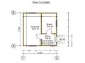 план первого этажа небольшого каркасного домика