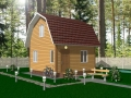 Эскиз дачного каркасного дома