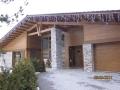 Каркасный дом. Каменные фрагменты дома дополнены каркасно-щитовой оболочкой