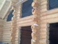 плотность прилегания бревен в углах дома - канадская чаша, строительство деревянного дома