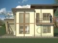 Фасад каркасно-щитового дома