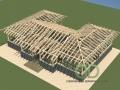 Проект каркасно-щитового дома - вид на конструкцию крыши
