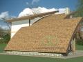 проект каркасного дома с арочной крышей