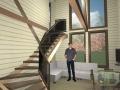 проект интерьера дома с арочной крышей