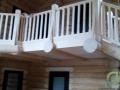 бревенчатый дом внутри, интерьер, второй свет в холе дома