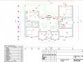 Проект каркасно-щитового дома - план 1-го этажа