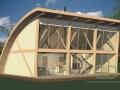 Каркасно-щитовой дом со стеклянным фасадом - эскиз