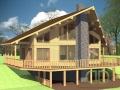 Эскизный проект каркасно-щитового дома вид на террасу