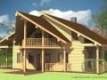Эскизный проект каркасно-щитового дома фасад со стороны входа