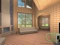 Интерьер каркасно-щитового дома - эскизный проект