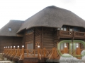Ресторан из бревна - завершение строительства